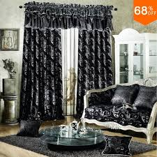 Black living room curtains Curtains Designs Black Luxurious Rod Stick Hang Style Living Room Curtains For Restaurant Dark Grey And Silver Color Blackout Color Black Curtain Aliexpress Black Luxurious Rod Stick Hang Style Living Room Curtains For