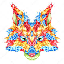 акварельные тату лиса тату лиса векторное изображение