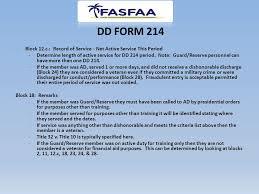 dd 12 form understanding veteran requirements ppt download