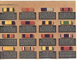 Army Ribbons And Awards Chart Military Decorations And Awards Chart Collectors Weekly