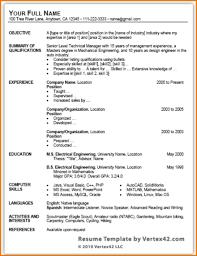 Internship Resume Template Microsoft Word Saneme
