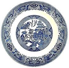 blue and white china pattern name willow vector blue and white china