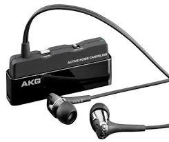 akg noise cancelling headphones. akg k390nc noise cancelling in-ear headphones with inline microphone (black) akg k