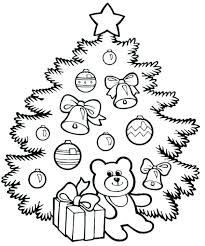 Coloring Page Christmas Tree Free Collection Of Tree Adult Coloring