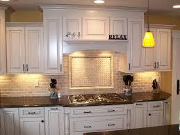 White Stone Kitchen Backsplash Black Granite Kitchen Counter Tops With Diagonal Cream Stone Tile