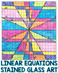 writing and graphing linear equations challenge stained glass art