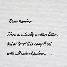 Writing A Letter To Teacher Dad Blog Uk