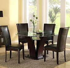 bold inspiration round espresso dining table com acme furniture top set finish drake collection 4 espresso round dining table