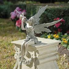 fairy garden statues. Fairy Of The West Wind Sitting Statues Garden E