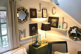 how to decorate a mirrored wall spaces eclectic with table lamp wall letters wall decor