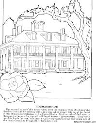 Coloring Pages For Adults Louisiana Plantations
