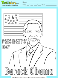 Small Picture Barack Obama Coloring Sheet Turtle Diary