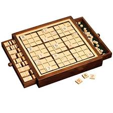 Wooden Board Games Uk SUDOKU DELUXE WOODEN SET BY CLEVER PUZZLES Amazoncouk Toys Games 6