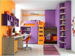 loft bed with desk and couch modern