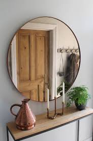hallway furniture entryway. Hallway Furniture Copper Mirror Over Steel And Oak Console Table By Studio Rae More Entryway R