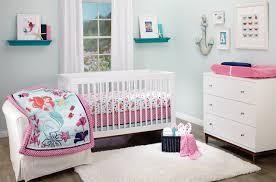 ariel sea treasures 3 piece crib bedding set with disney princess crib and white wall decor