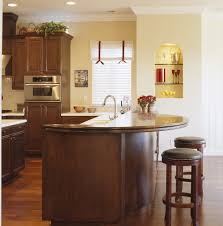 Raised Kitchen Floor Curved Breakfast Bar Kitchen Contemporary With Recessed Lighting
