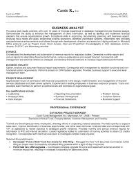 Financial Resume Examples New 48 Business Analyst Resume Sample SampleBusinessResume