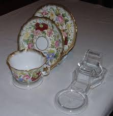 Cup And Saucer Display Stands 100 CUP SAUCER AND PLATE DISPLAY STANDSAUSTRALIAN MADE CLEAR 29