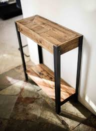 Pallet Wood Entry Hall Side Table A Great Entry Way Table Made Out Of Repurposed Wood From A Pallet Has Amazing Character And Patina