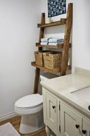 Ana White | Build a Leaning Bathroom Ladder Over Toilet Shelf | Free and  Easy DIY