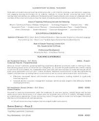 Resume Example For Teacher Example Teacher Resume Example Of A ...
