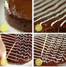 Elegant And Simple Fan And Feather Cake Decoration Food Delicacies