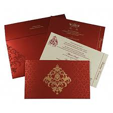 unique wedding invitations modern wedding invitations South Indian Wedding Cards red shimmery damask themed screen printed wedding invitations in 8257h 123weddingcards south indian wedding cards