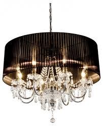 beaumont eight light chandelier in black