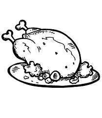 Fried Chicken And Roasted Potato Coloring Pages Download Print