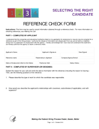 Filled Employee Reference Check Form Fill Online
