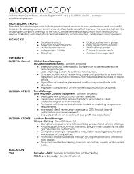 Marketing Resume Examples Sample Resumes Free Templates Format In