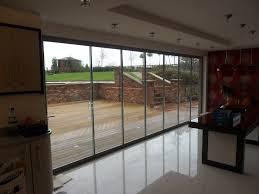 full width toughened glass doors