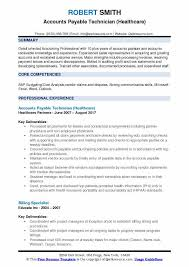 Accounts Payable Technician Resume Samples Qwikresume