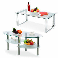 modern glass coffee table. Modern Glass Rectangular/Oval Coffee Table Side End Tables Living Room Furniture