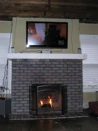 fireplace interior fireplaces inside greatest painted brick fireplace before and after painting painted brick before and after wpyninfo