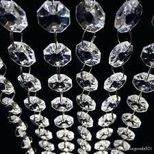 feet crystal clear acrylic beads chain acrylic crystal garland hanging diamond chandelier wedding supplies party table