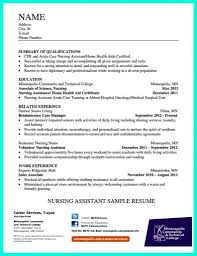 Sample Resume For Cna Cna No Experience Cover Picture