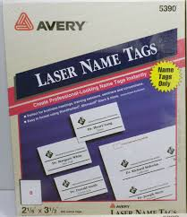 Avery Nametag Avery 5390 Name Badge Insert Refills Laser Inkjet 400 Inserts