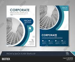 Ebrochure Template Modern Blue Brochure Vector Photo Free Trial Bigstock