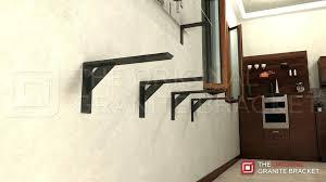 heavy duty wall mount shelf brackets shelf bracket heavy steel by the original granite bracket heavy
