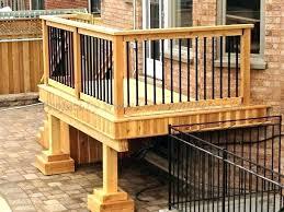 horizontal deck railing ideas designs curved simple wood diy