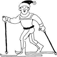 Man Aan Het Skiën Kleurplaat Gratis Kleurplaten Printen