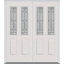 exterior double entry doors. carrollton decorative glass 2 lite painted fiberglass smooth exterior double entry doors
