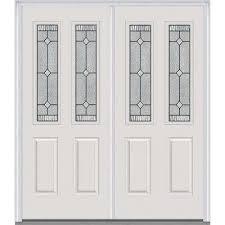 exterior double door. carrollton decorative glass 2 lite painted fiberglass smooth exterior double door