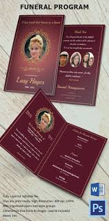 Funeral Programs Samples Gorgeous Funeral Program Template 48 Free Word PDF PSD Format Download