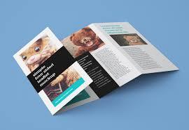 Free Accordion 4 Fold Brochure Leaflet Mockup Psd
