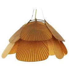 ingo maurer uchiwa pendant chandelier rice paper and bamboo for