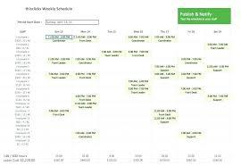 Work Schedule Maker Free Download Employee Shift Template Calendar