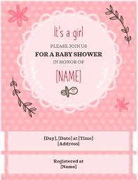 Office Baby Shower Invite Baby Shower Invitation Girl